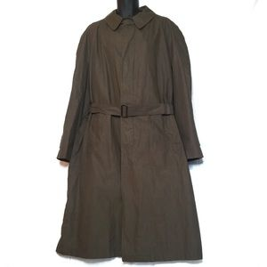 Jos. A. Banks Dark Khaki Belted Trench Coat, 46L